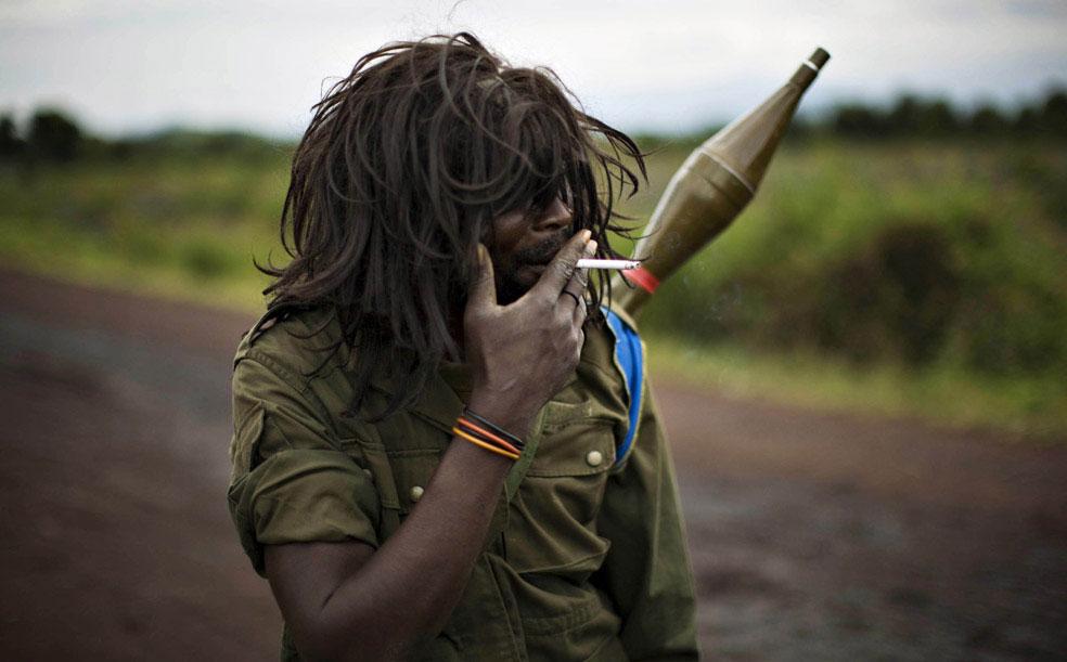 недалеко от линии фронта на востоке Конго, фото