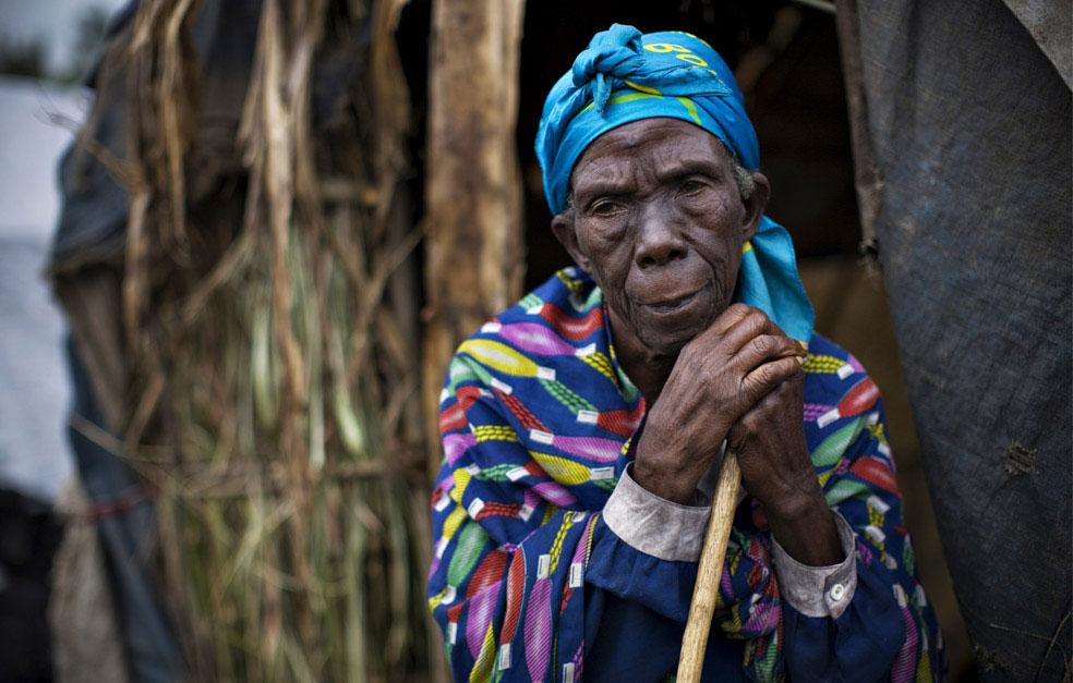 лагерь для беженцев в Kiwanja, Конго, фото