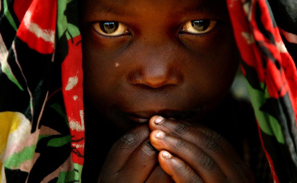 лагерь беженцев вблизи лагеря миротворцев ООН, Конго, фото