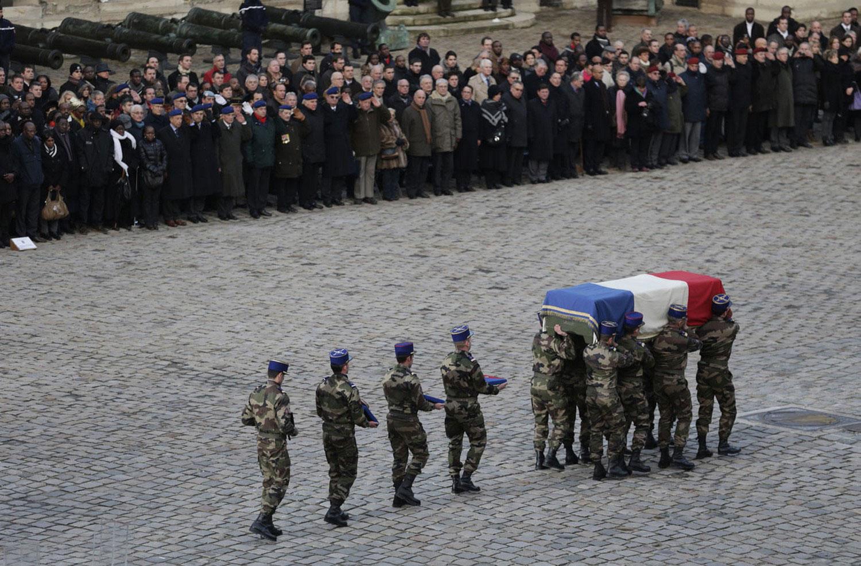 похороны погибшего французского солдата, фото Мали