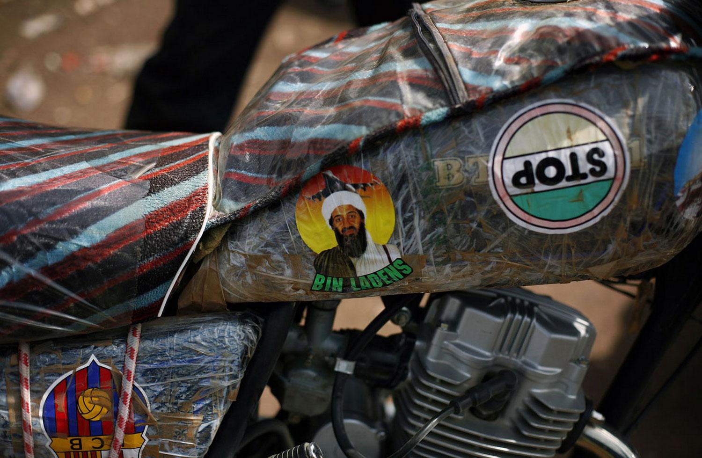 Наклейка с изображением Усама бен Ладена, фото Мали