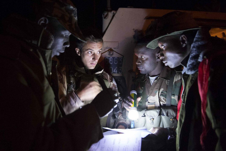 Французский и малийские солдаты, фото Мали