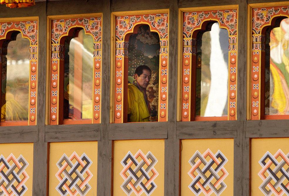 тронный зал на церемонии коронации, Бутан, фото