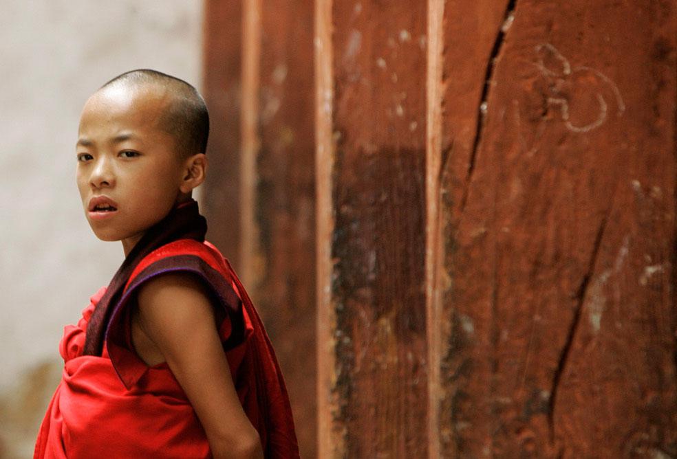молодой монах, Бутан, фото