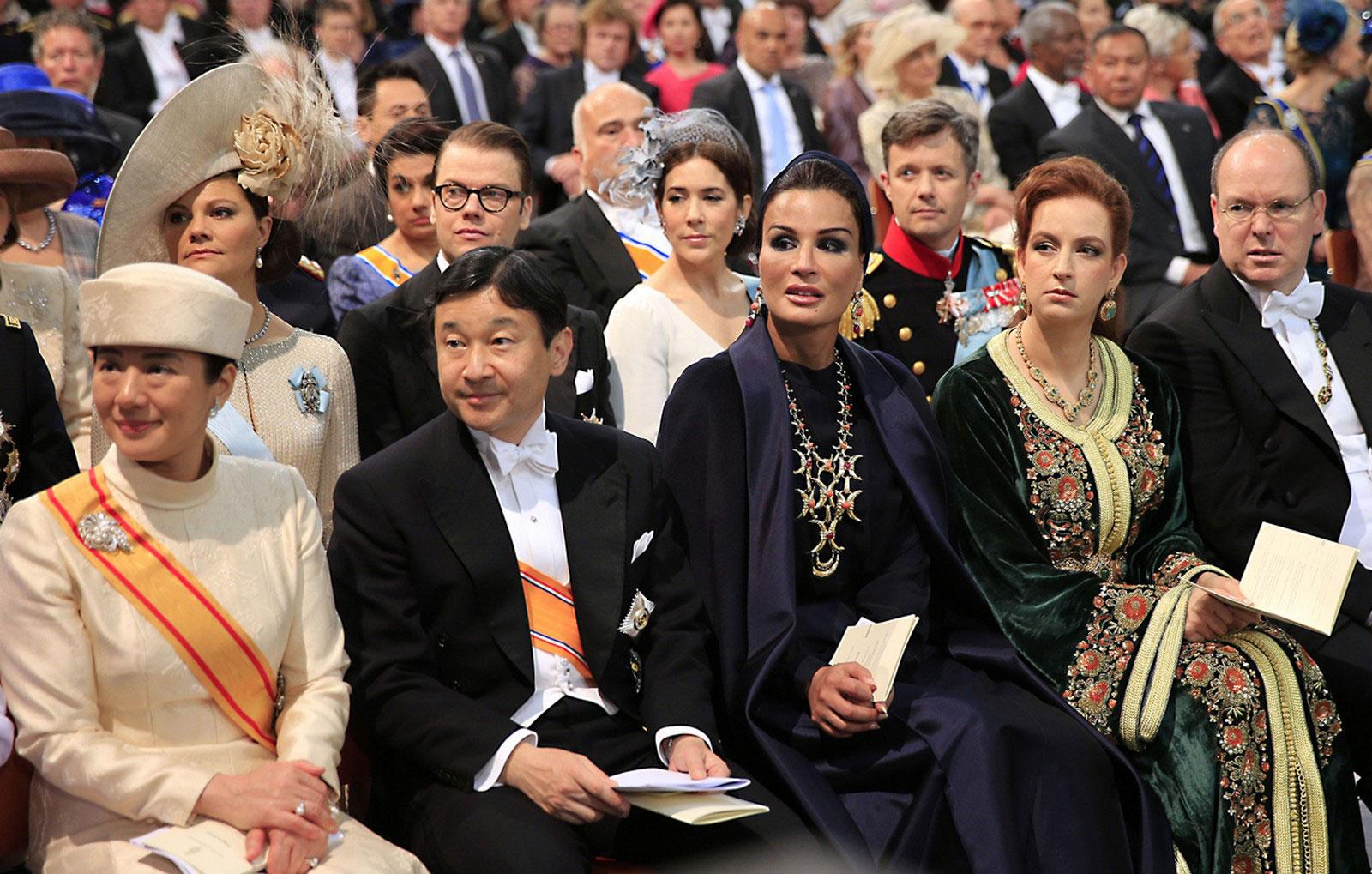 знать на церемонии коронации
