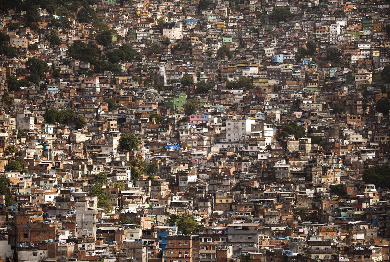 дома в трущобах Рио-де-Жанейро, фото
