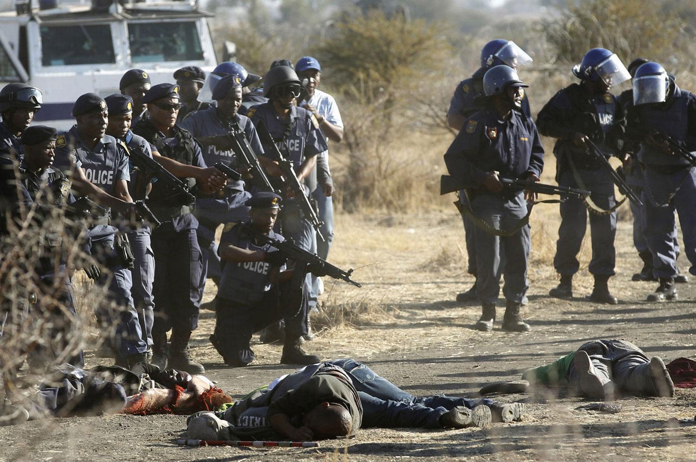 расстрел шахтеров на забастовке, фото
