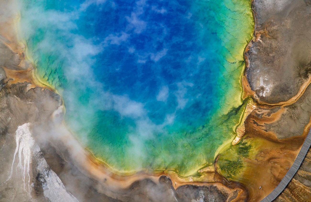 горячий источник в США, фото