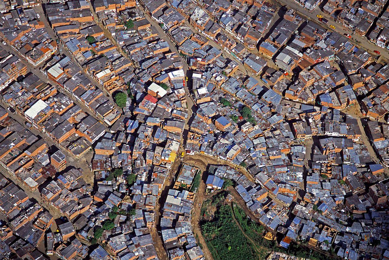 трущобы в Медельин, пейзаж