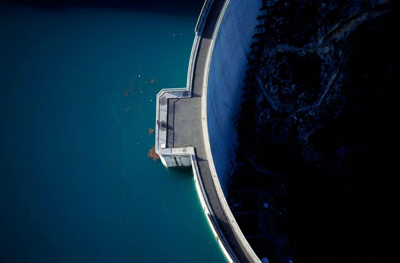 Гидроэлектростанция во Франции, пейзаж