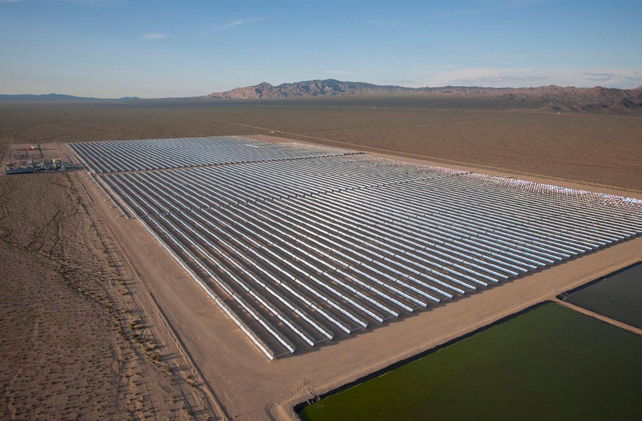 электростанция в пустыне Невада, фото