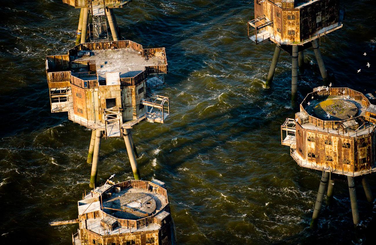 Морские форты Манселла, пейзаж