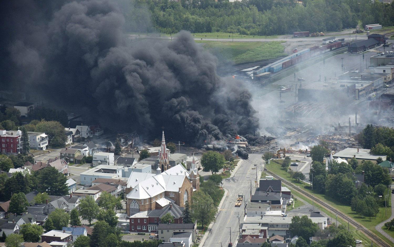 Пожар в центре Lac-Megantic
