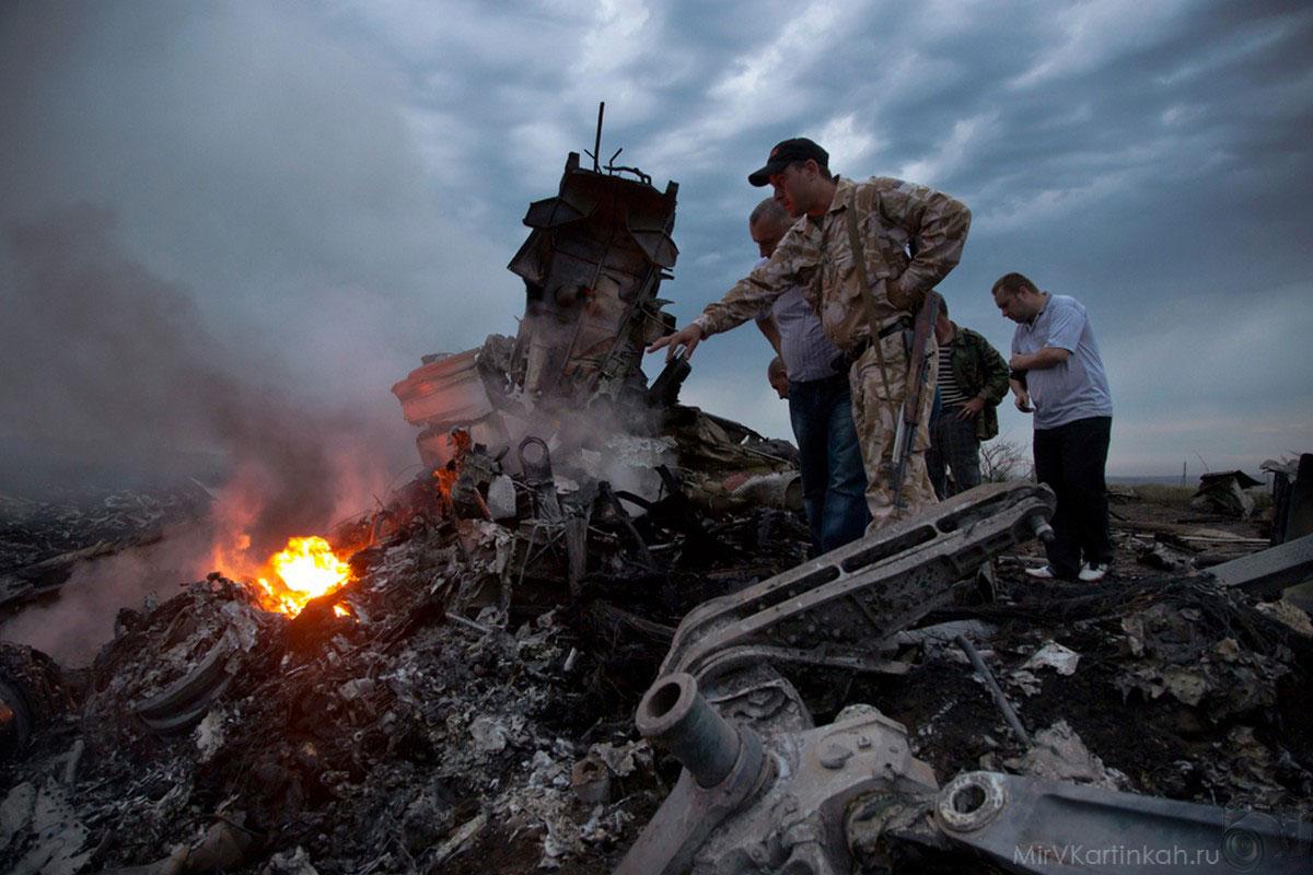 место падения пассажирского самолета