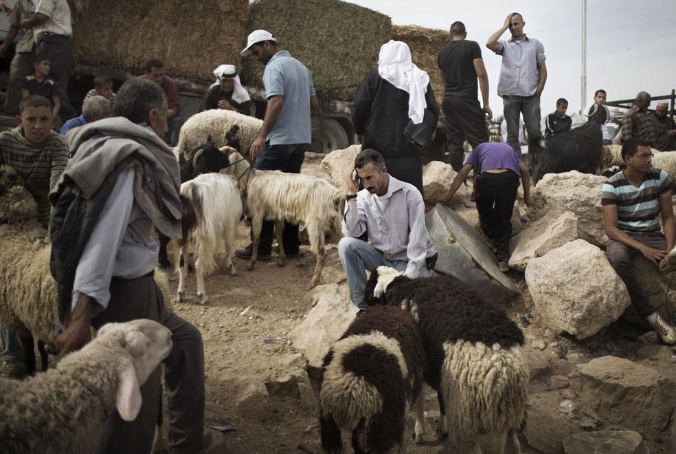 мусульмане на рынке в Израиле, фото Курбан-байрам