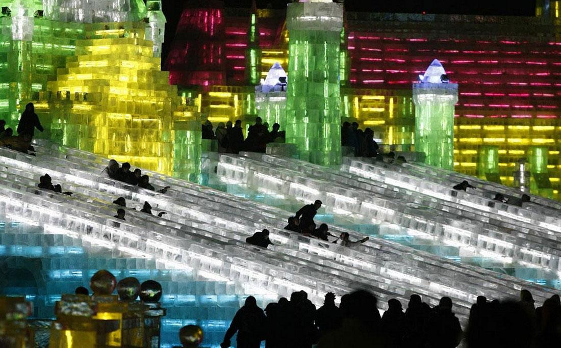 сказочный дворец изо льда, фото