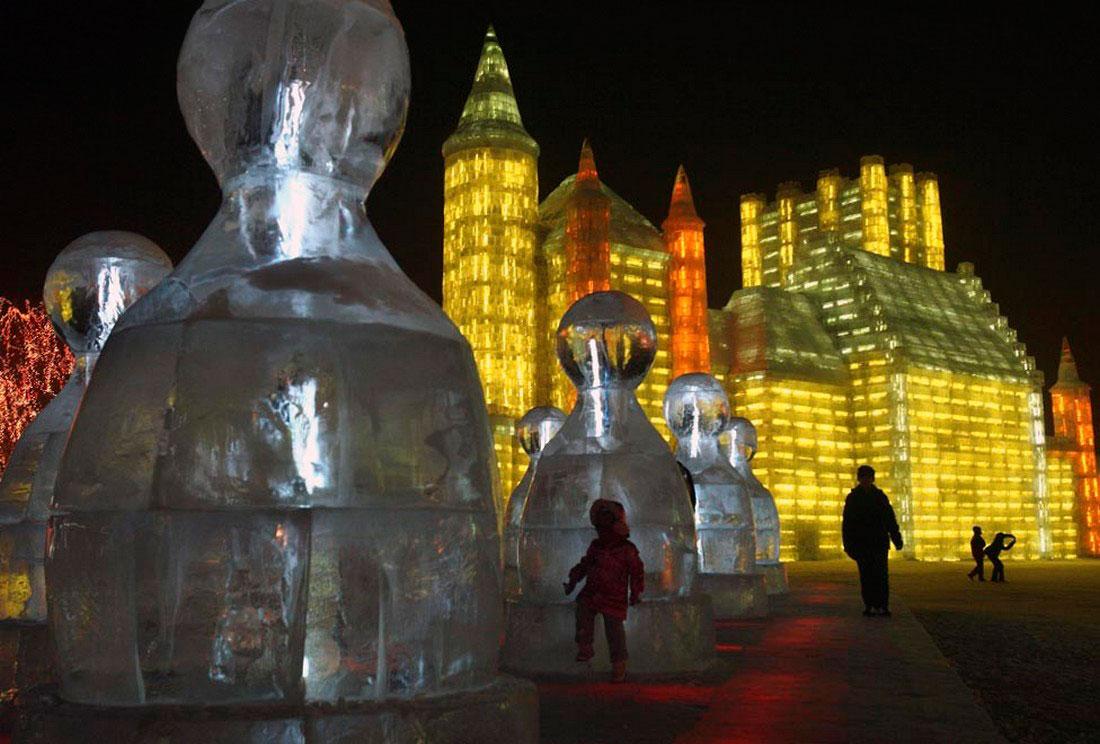 открытие Ледового фестиваля в Китае, фото
