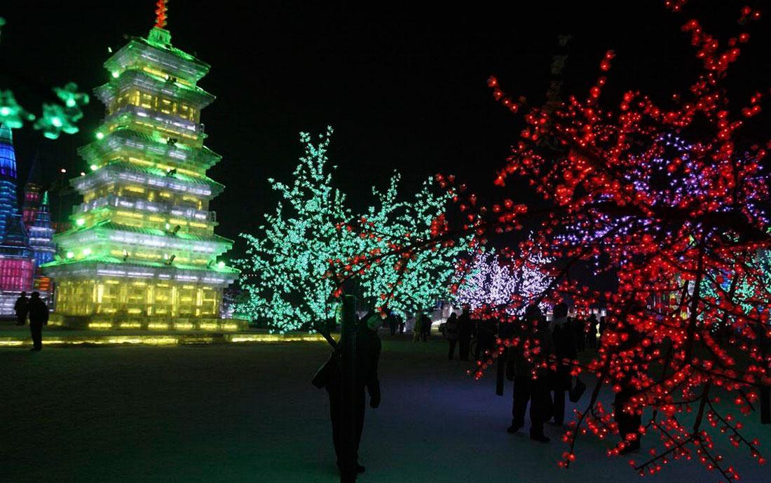 открытие праздника льда в Харбине, фото