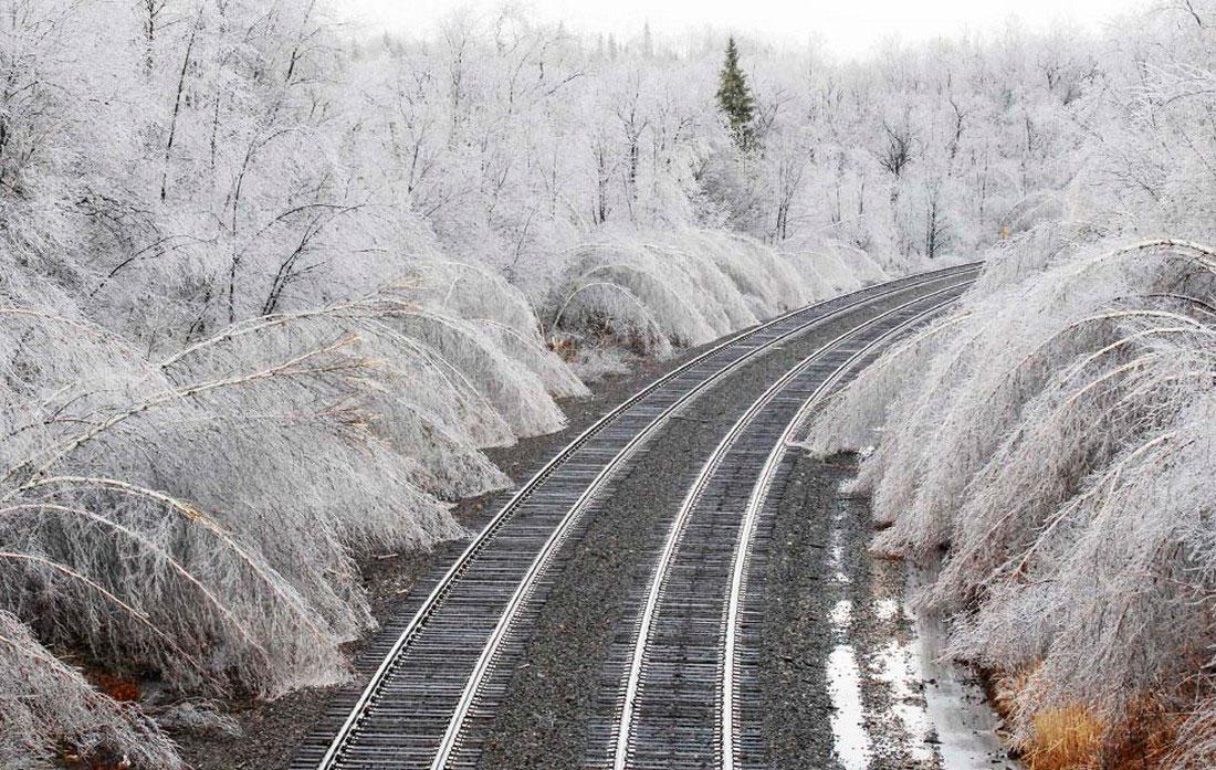 ледяной дождь в Массачусетс, фото