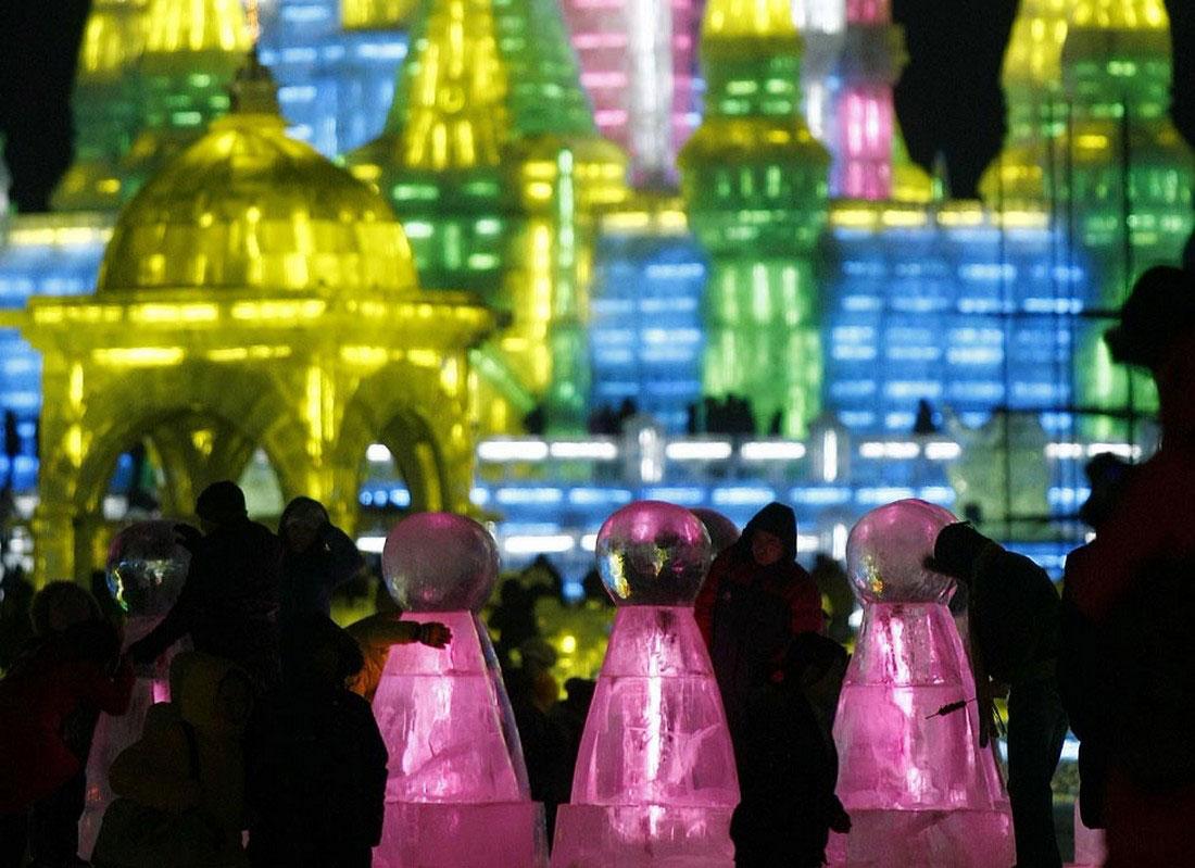 праздник в Китае, фото снежных изваяний