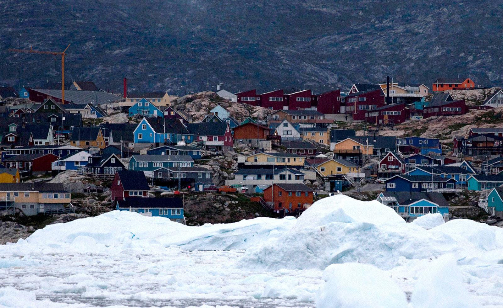 Дрейфующие льды, фото Гренландии