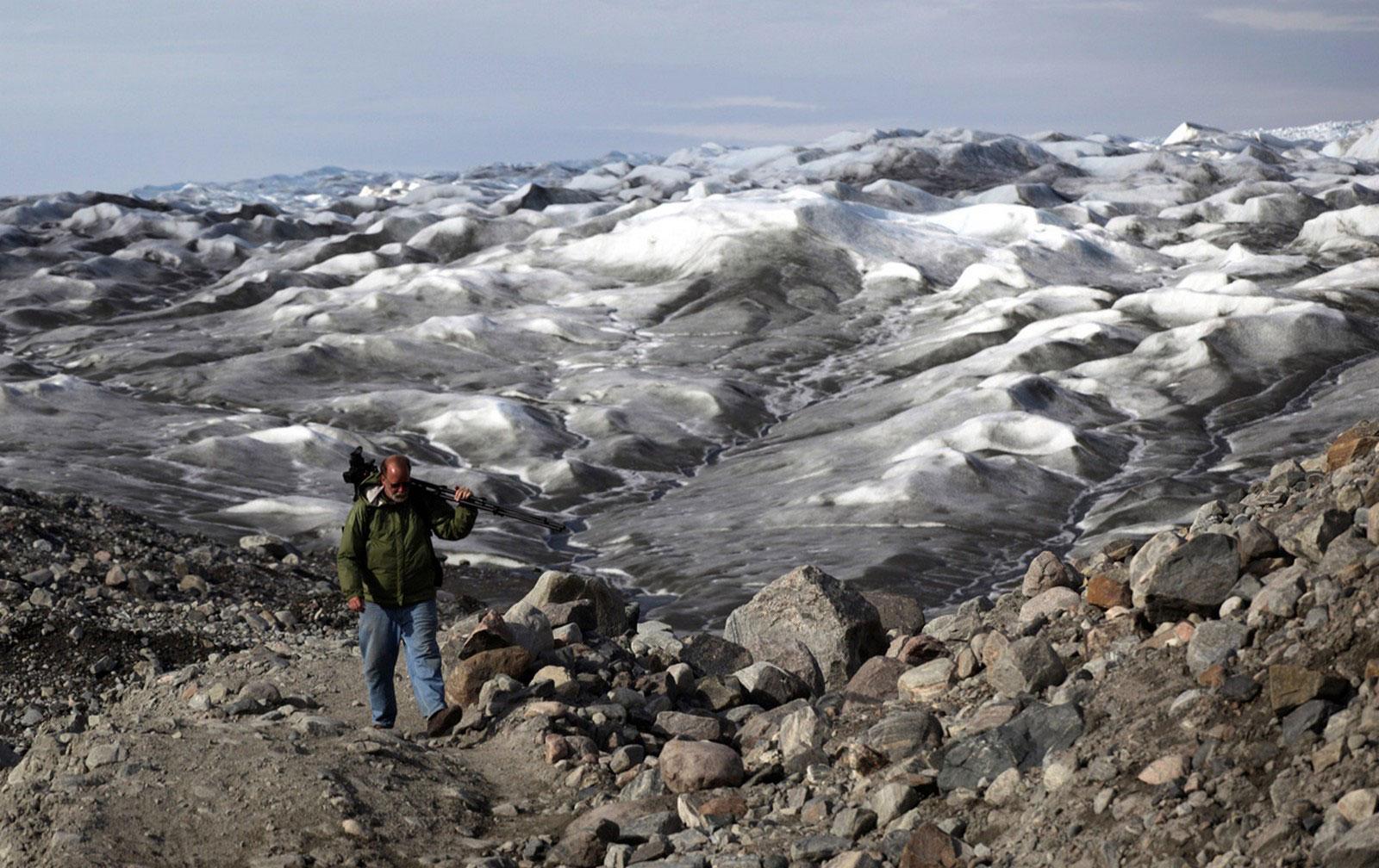 у ледников Гренландии