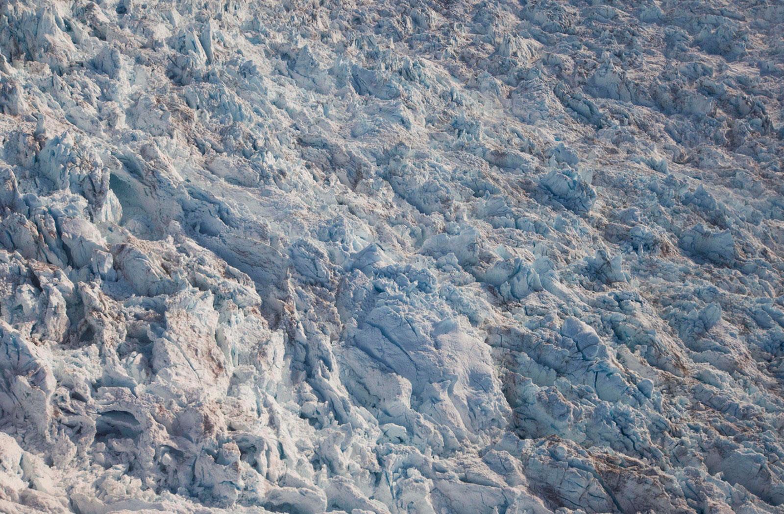 поверхность гренландского ледника