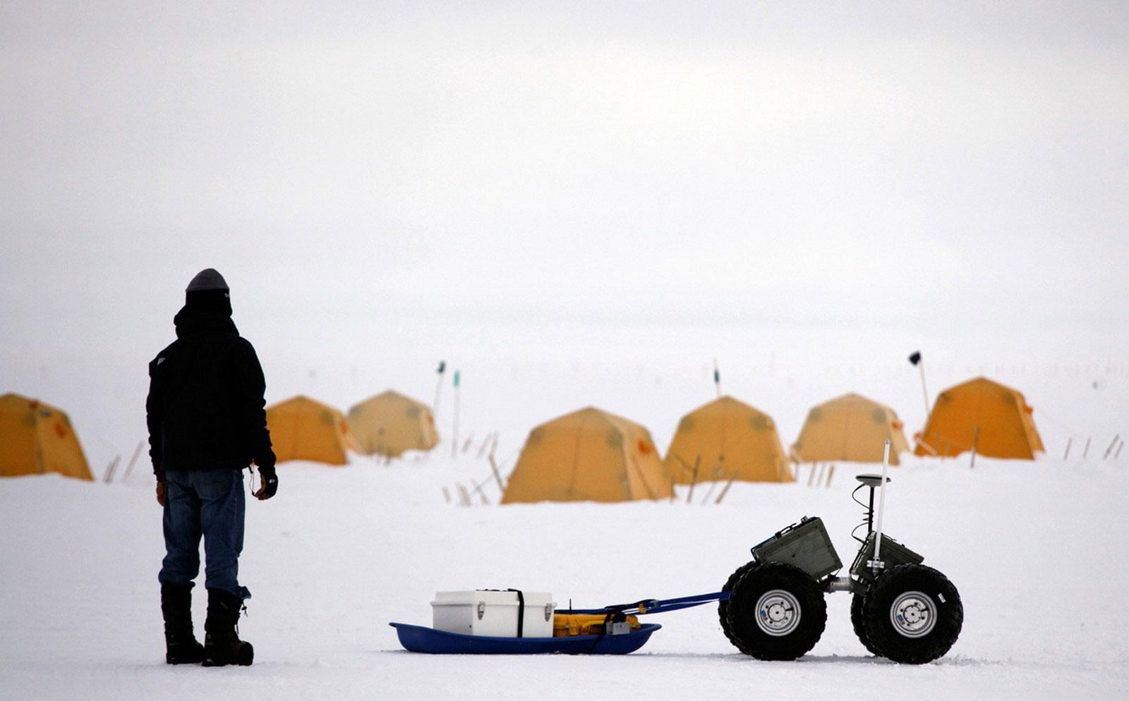 тестированием прототипа полярного робота