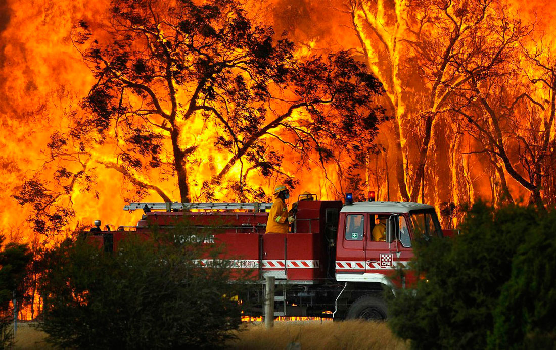 Огонь вышел из под контроля, фото из Австралии