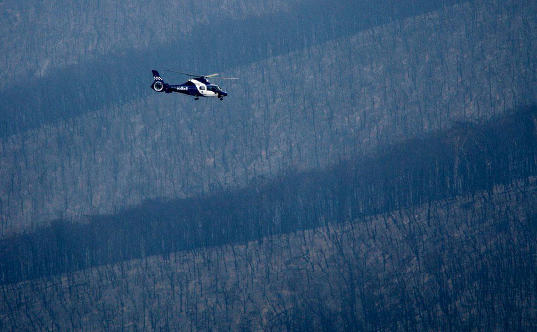 Полицейский вертолет, фото из Австралии