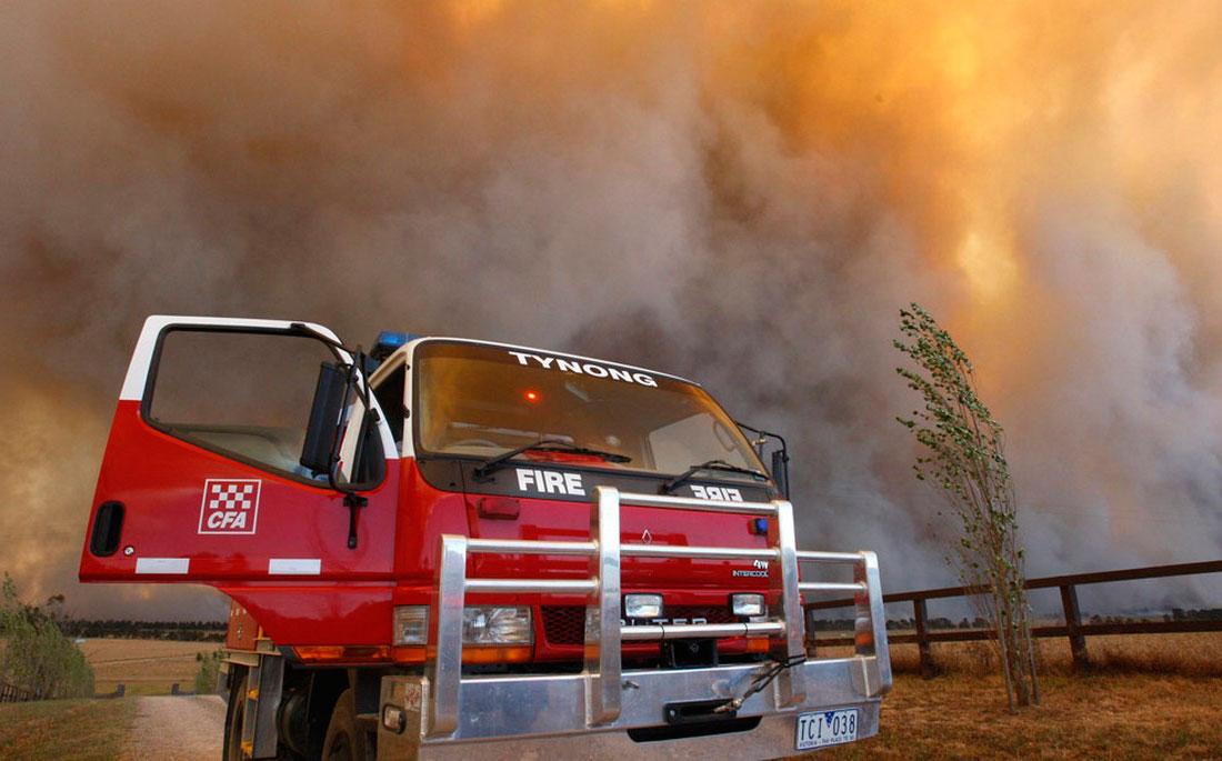 лесной пожар, фото из Австралии