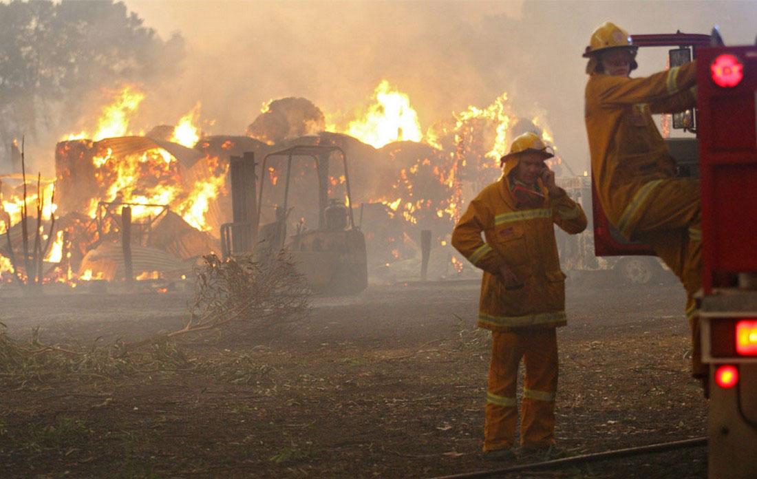 загорелся сарай, фото из Австралии