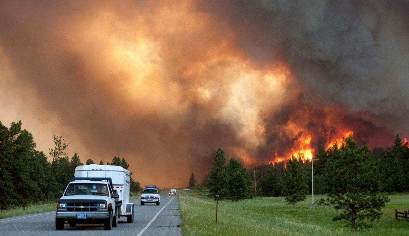 город Раундап, штат Монтана, фото лесных пожаров