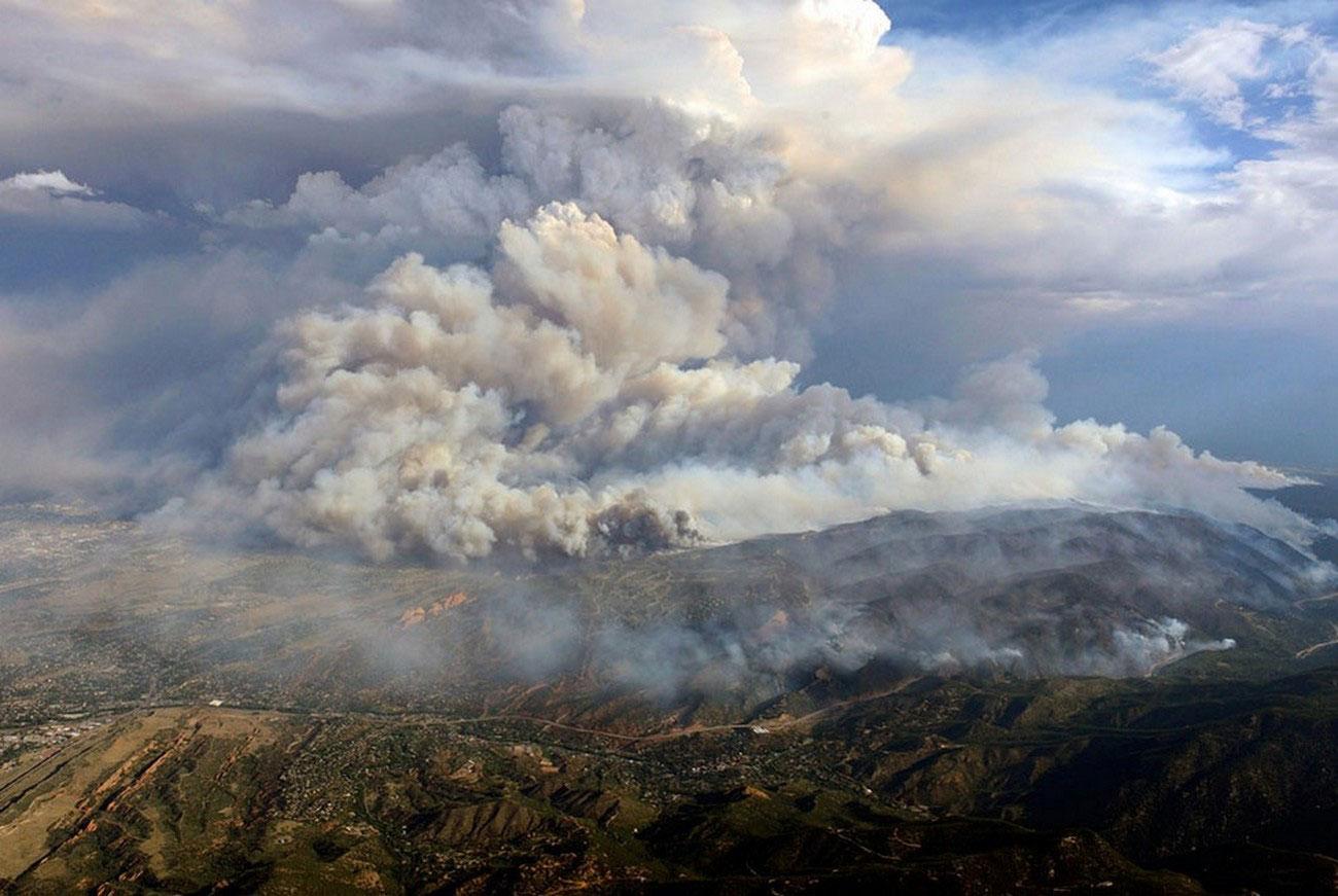 Пожары на территории каньона Уолдо, фото США