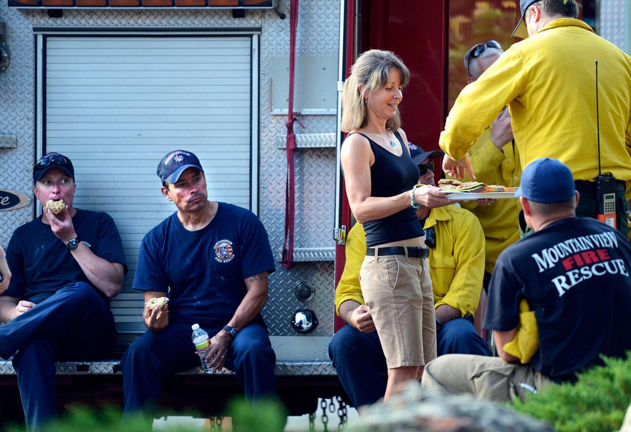 Пожарные в Колорадо, фото