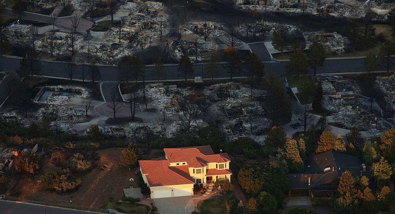 Улицы штата Колорадо, фото лесных пожаров