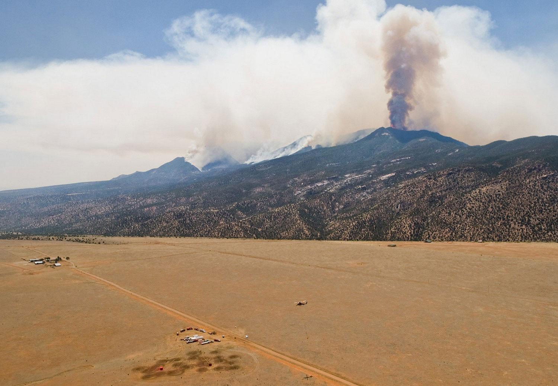 дым в штате Нью-Мексико, фото