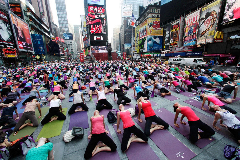 летом на Таймс-Сквер, фото
