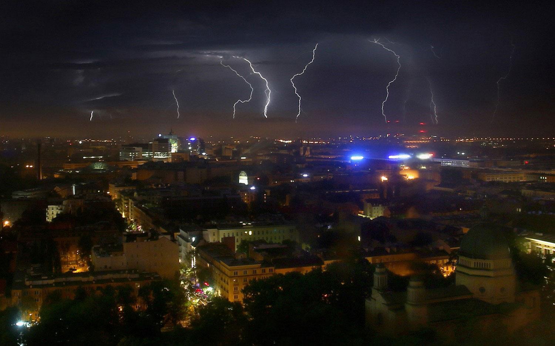 гроза а Варшаве, фото