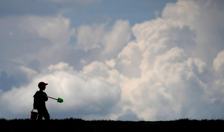 ребенок в поле, фото летнего пейзажа