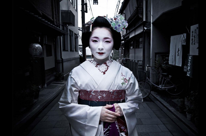 на улицах Японии, фото летнее