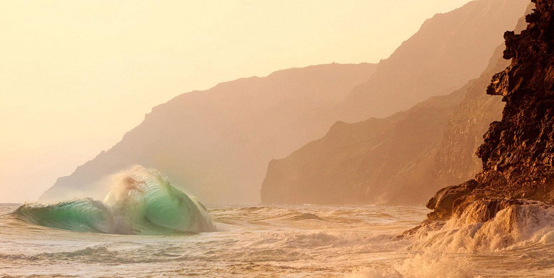 волны на Гавайях, фото