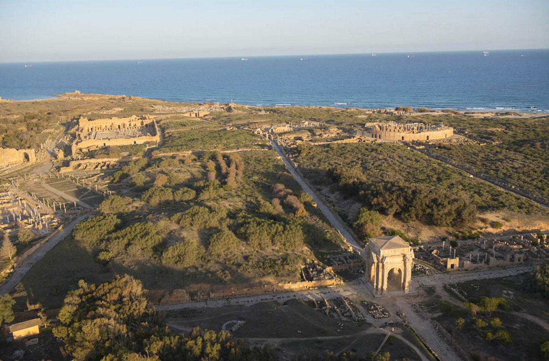 Древний город Лептис-Магн