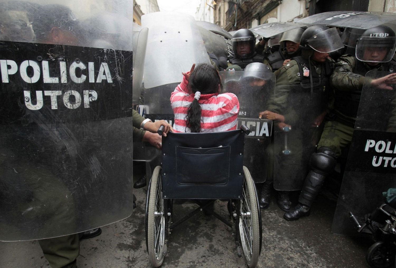 марш протеста в Боливии, фотография