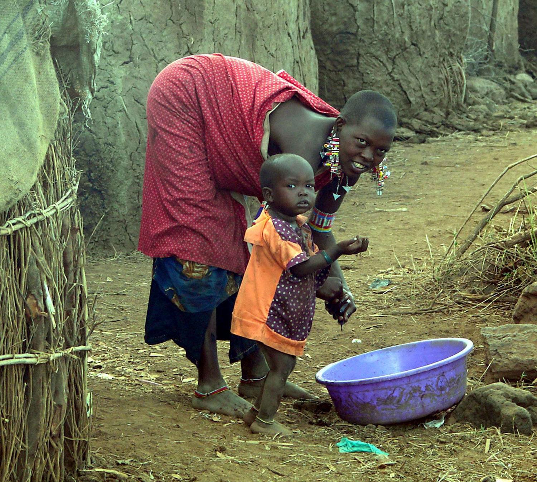 хижины у масаи, фото