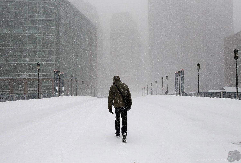 Одинокий пешеход
