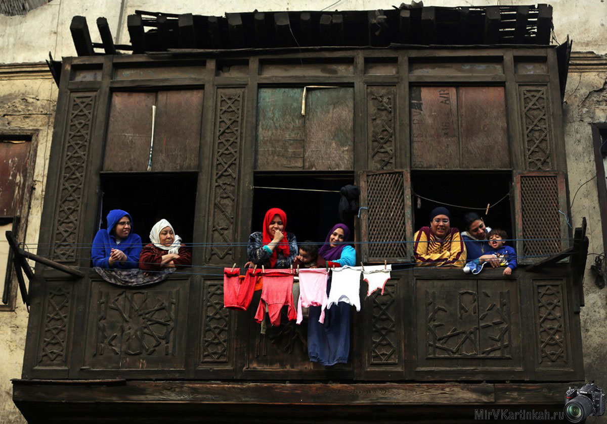 Египтяне на балконах