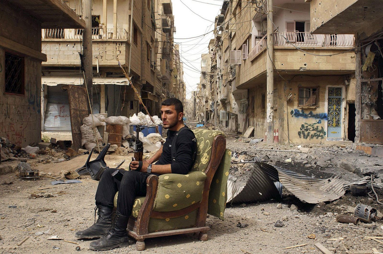 Солдат свободной сирийской армии