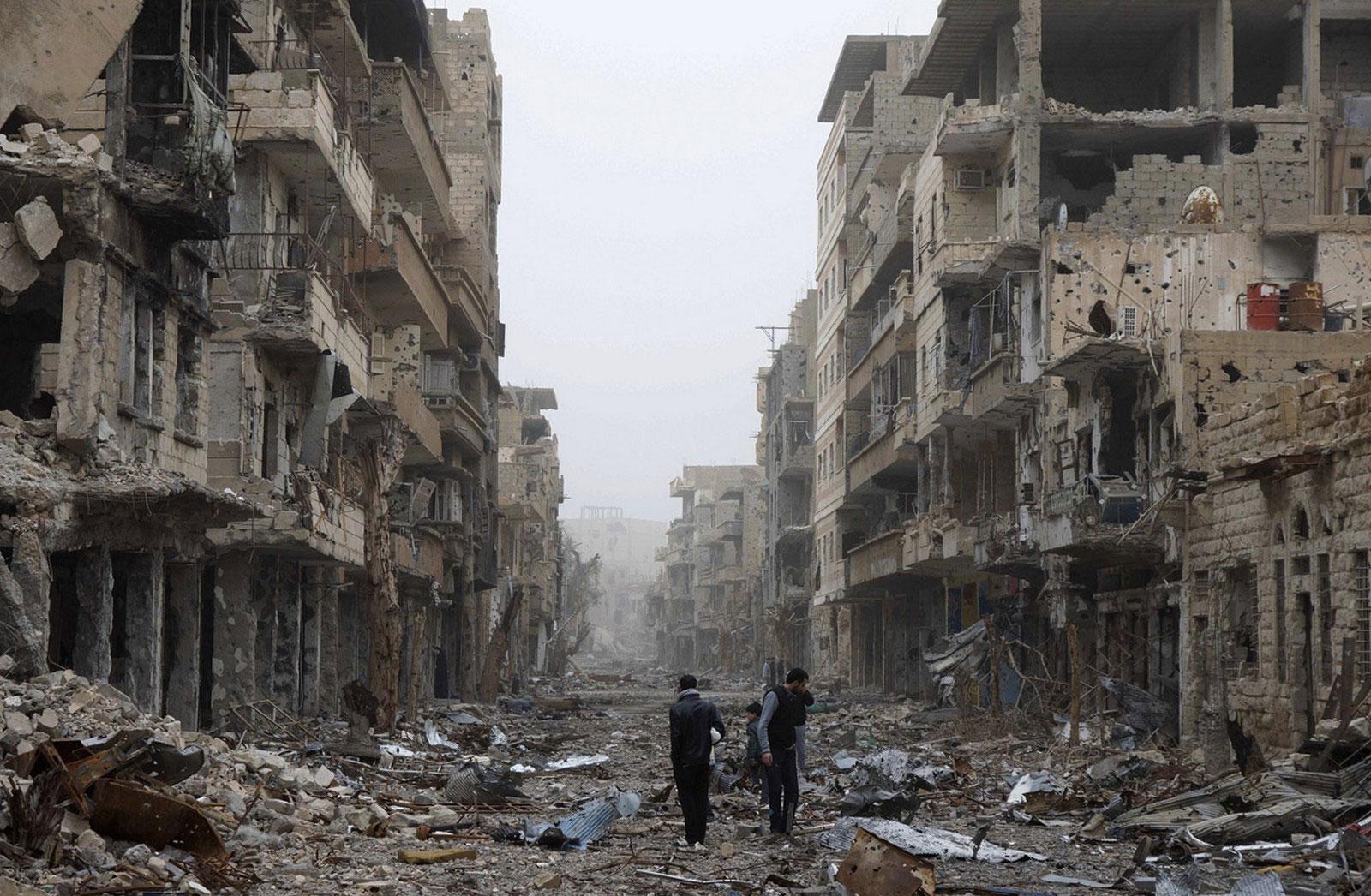 разрушения в ходе войны