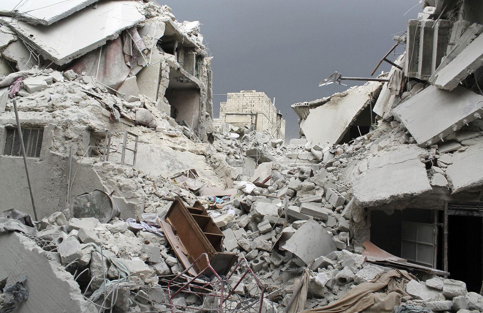 Поврежденные здания